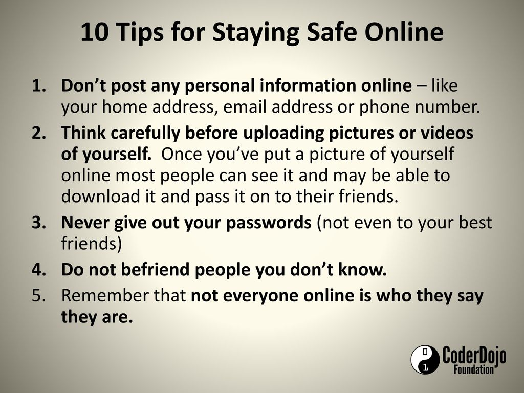 Staying safe online tips