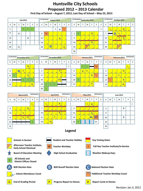 Huntsville City Schools Calendar 2022 23.Proposed School Opening Dates