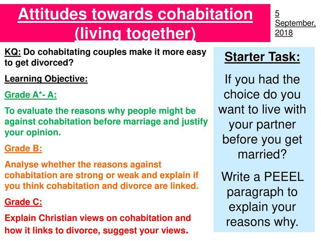 Against cohabitation reasons Shacking Up: