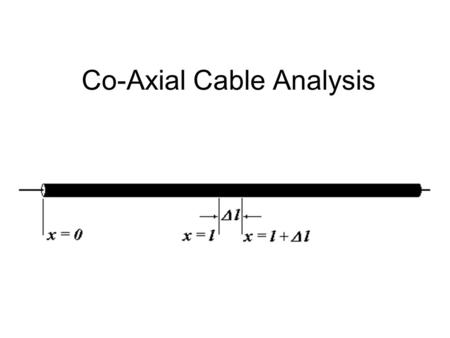 Co-Axial Cable Analysis. Construction Details Question 1 What is the fundamental equation relating the magnetic field surrounding a conductor and the.