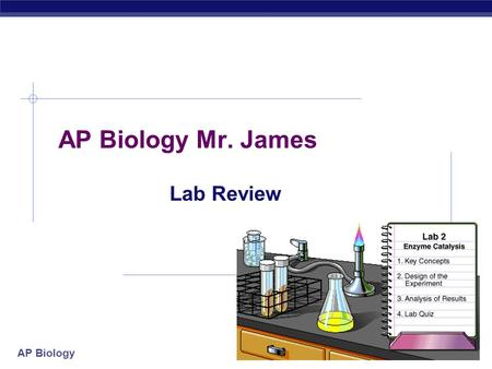 AP Biology Mr. James Lab Review 2004-2005.