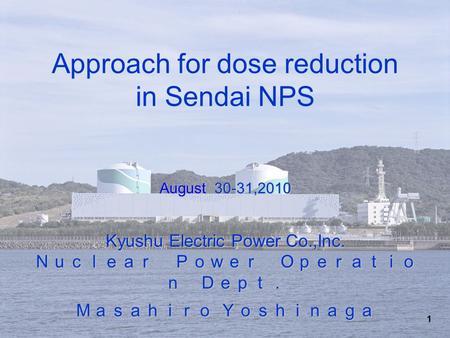 Unit 2, Genkai Nuclear Power Plant - ppt video online download