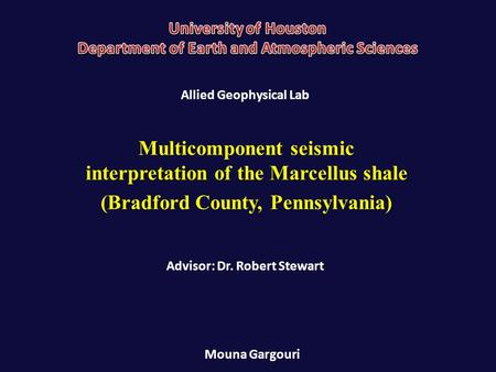 Multicomponent seismic interpretation of the Marcellus shale