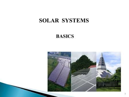 1 SOLAR SYSTEMS BASICS.  National Electric Code (NFPA # 70) for Photovoltaic Systems  Mechanical Code of New York State for Thermal Systems  Plumbing.