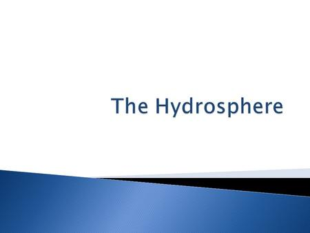 The Hydrosphere.