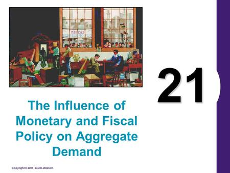 Copyright © 2004 South-Western 21 The Influence of Monetary and Fiscal Policy on Aggregate Demand.