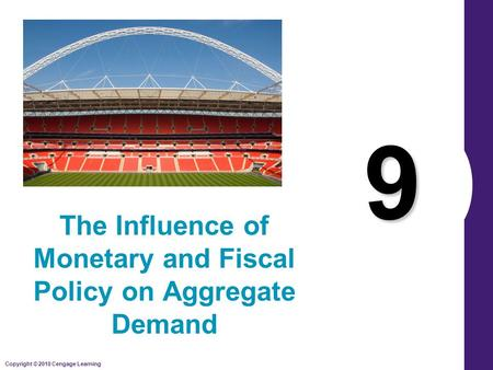 Copyright © 2010 Cengage Learning 9 The Influence of Monetary and Fiscal Policy on Aggregate Demand.