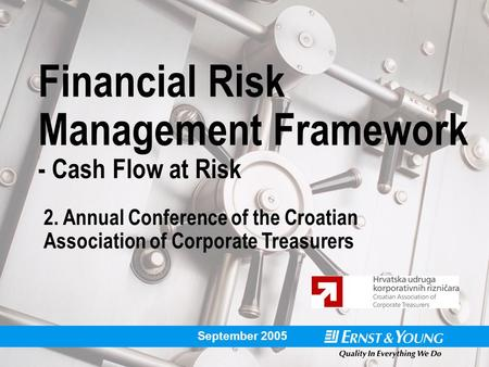 Financial Risk Management Framework - Cash Flow at Risk