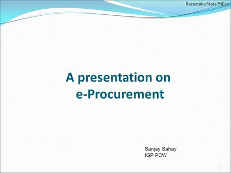 A presentation on e-Procurement