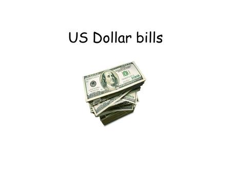 US Dollar bills.