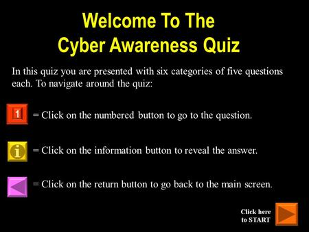 Welcome To The Cyber Awareness Quiz