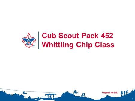 Cub Scout Pack 452 Whittling Chip Class