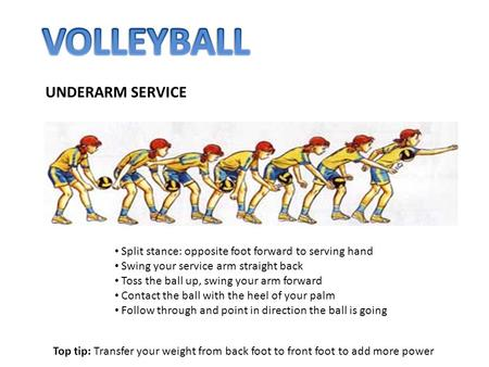 VOLLEYBALL UNDERARM SERVICE