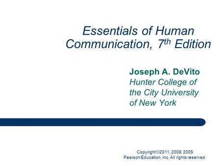 interpersonal communication 7th edition pdf
