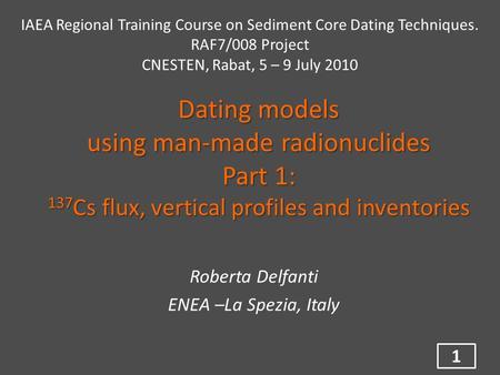 Cæsium 137 dating