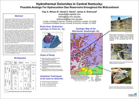 Hydrothermal Dolomites in Central Kentucky: