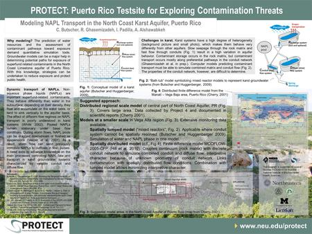 PROTECT: Puerto Rico Testsite for Exploring Contamination Threats www.neu.edu/protect Why modeling? The prediction of water resources and the assessment.