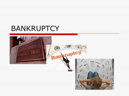 BANKRUPTCY. COLORADO FILINGS TREASURERER'S RESPONSIBILITIES.