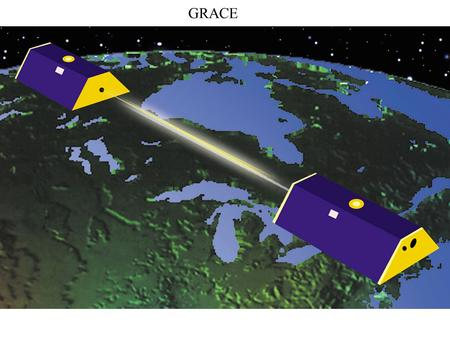 GRACE. See movie Free air gravity anomalies derived from radar altimetric determinations of geoid height milligals.