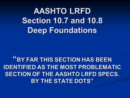 AASHTO LRFD Section and 10