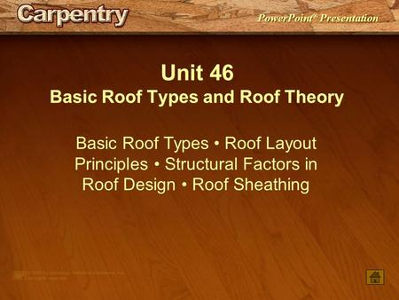 Basic Roof Types and Roof Theory