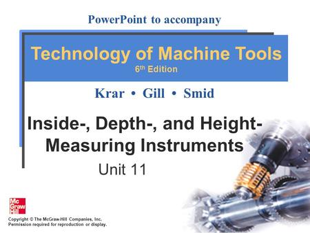 Inside-, Depth-, and Height-Measuring Instruments
