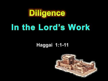 Haggai 1:1-11. 1 ¶ In the second year of Darius the king, in the sixth month, in the first day of the month, came the word of the LORD by Haggai the prophet.