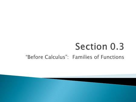 """Before Calculus"": Families of Functions.  Calculus,10/E by Howard Anton, Irl Bivens, and Stephen Davis Copyright © 2009 by John Wiley & Sons, Inc. All."