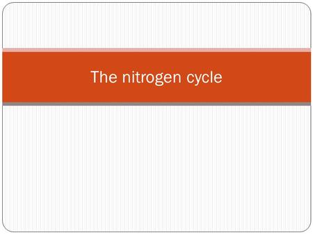 The nitrogen cycle. Animals can not fix N2. They get their nitrogen by eating plants or by eating something that eats plants. Nitrogen Fixation is very.