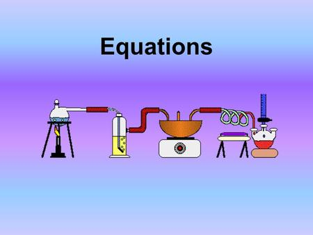 Equations. Chemical Reaction When a substance goes through a reaction and changes into another substance.