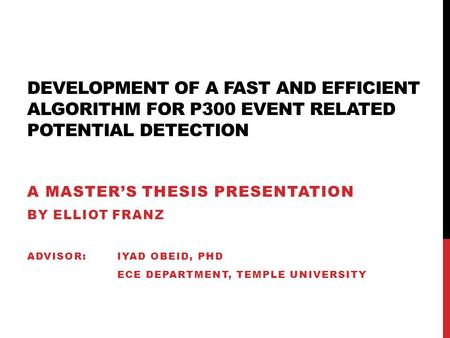 Mres thesis