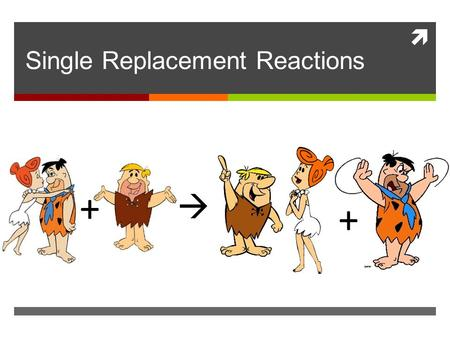  Single Replacement Reactions + + . General Equation A + BX  AX + B.