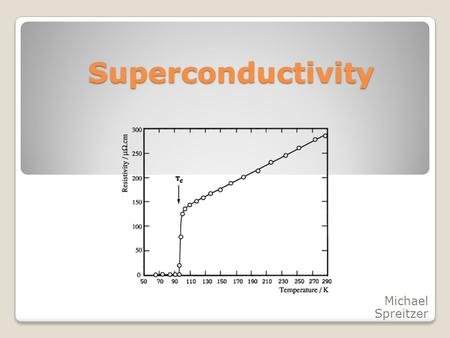"Superconductivity Michael Spreitzer. Overview ""Superconductivity"" ? Who discovered it ? Meissner & Ochsenknecht effect? BCS – Theory Different types of."