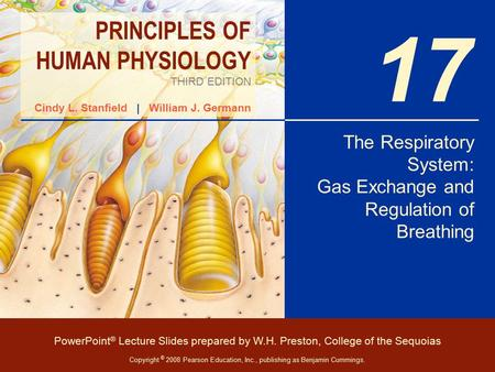 The Respiratory System: Gas Exchange and Regulation of Breathing