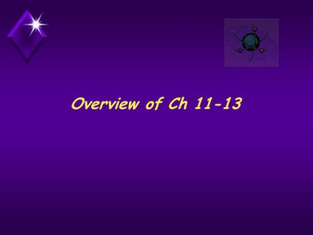 Overview of Ch 11-13. Properties of Solutions Chapter 11.