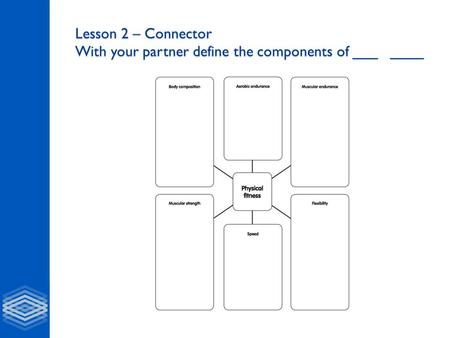 Lesson 2 – Connector With your partner define the components of ___ ____.
