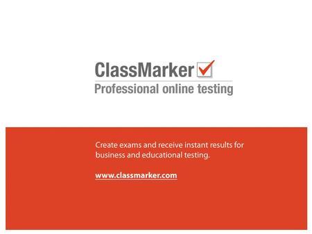 Online Examination System CLASS MARKER University of Pune