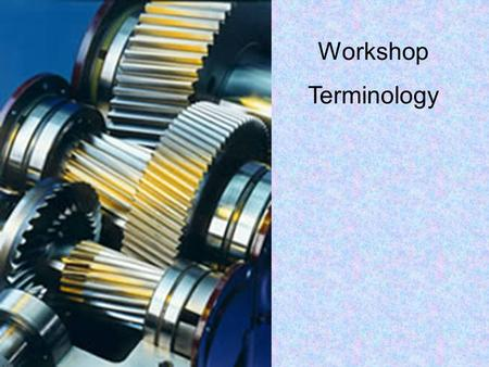 Workshop Terminology. Countersink Countersink bit Countersunk Screws A countersink is used to.