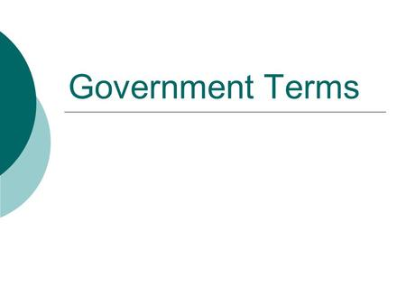 Government Terms.