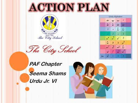 The City School PAF Chapter Seema Shams Urdu Jr. VI.