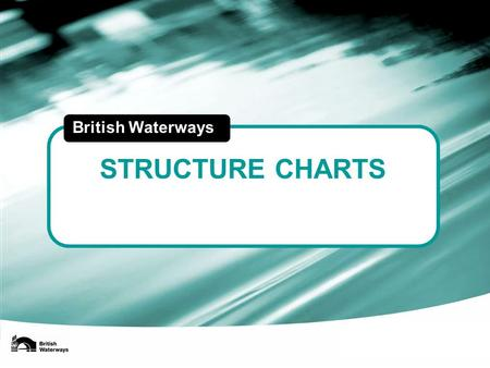 STRUCTURE CHARTS British Waterways. Robin Evans Chief executive Legal Audit HR Financial control Tax & accounting ICT Shared service centre BWML Communications.