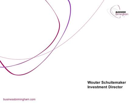 Wouter Schuitemaker Investment Director businessbirmingham.com.