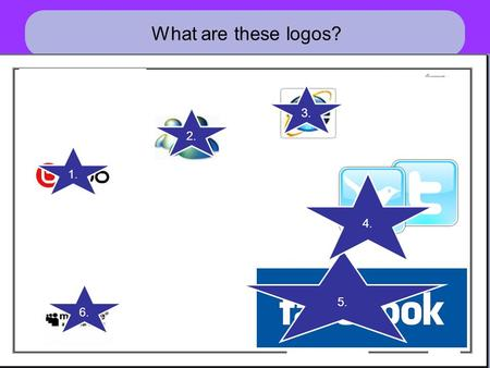 What are these logos? 1. 2. 3. 5. 4. 6.. Unit Objectives Look at the dangers of the internet Learn how to keep yourself safe Find out what Cyberbullying.