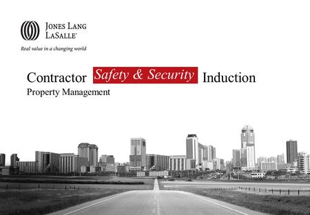Safety & Security Contractor Induction Property Management.