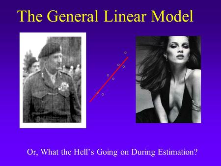 The General Linear Model Or, What the Hell's Going on During Estimation?