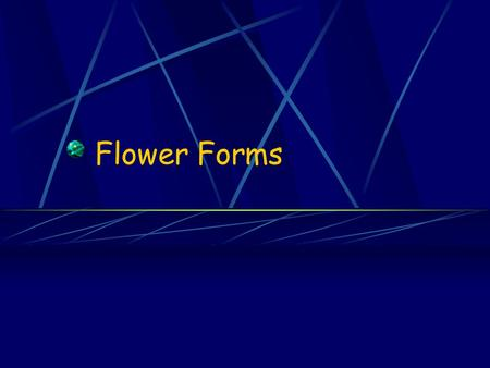 Flower Forms. Line Flowers and Foliage Skeleton of the arrangement Tall, erect spikes of blossoms Add height or width to the design.
