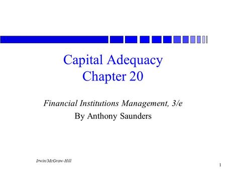 Capital Adequacy Chapter 20