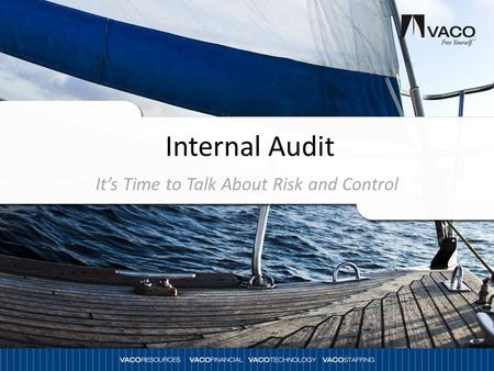 It's Time to Talk About Risk and Control