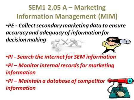 SEM A – Marketing Information Management (MIM)