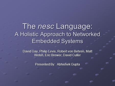 Embedded vs holistic case study